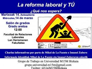 Charlas en la Universidad sobre la reforma laboral