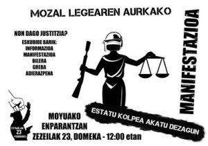 MANIFESTAZIOA O23an Protestaren kriminalizazioaren aurka//MANIFESTACIÓN 23F, Contra la criminalización de la protesta