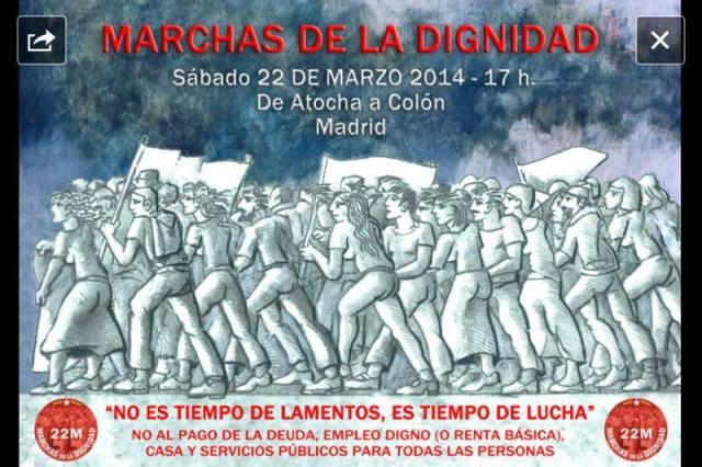 Marchas de la Dignidad Madrid 22M