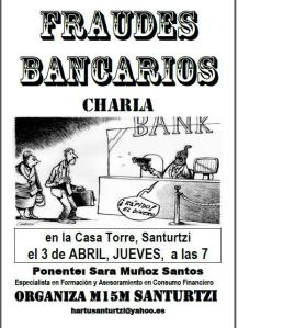 Fraudes bankarios charla