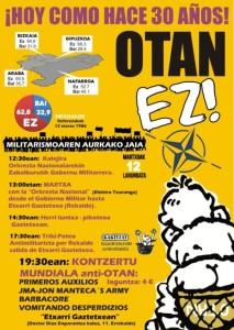Cartel actos 30 aniversario OTAN EZ